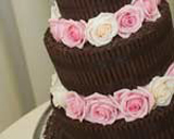 Chocolate wedding cake by Special Ice